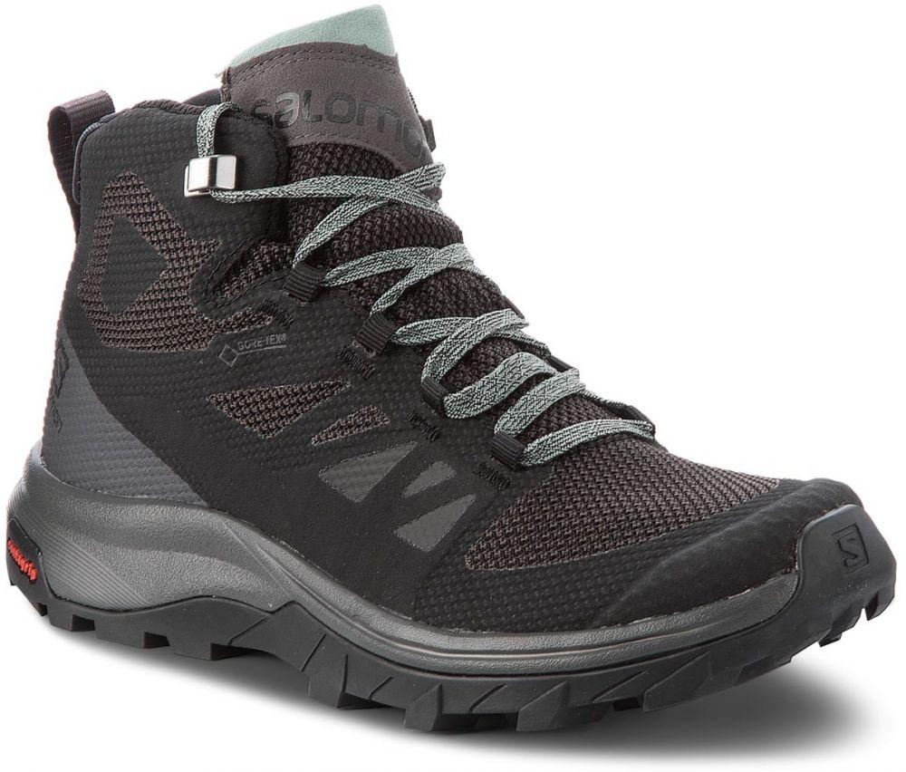 Trekingová obuv SALOMON - Outline Mid Gtx GORE-TEX 404844 21 V0 Black Magnet 976c763c2ef