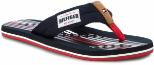 Žabky TOMMY HILFIGER - Seasonal Tommy Beach Sandal FM0FM01609 Midnight 403