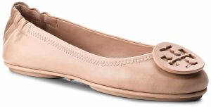 Baleríny TORY BURCH - Minnie Travel Ballet With Logo 51158251 Goan Sand 927
