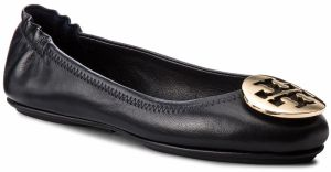 Baleríny TORY BURCH - Minnie Travel Ballet With Metal Logo 50393 Perfect Navy/Gold 444