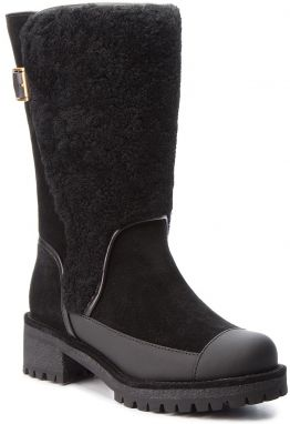 Čižmy TORY BURCH - Sloan Shearling Boot 49198 Perfect Black/Perfect Black 004