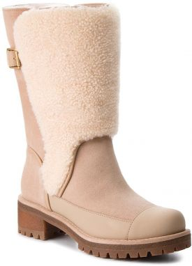 Čižmy TORY BURCH - Sloan Shearling Boot 49198 Perfect Sand/Natural 256