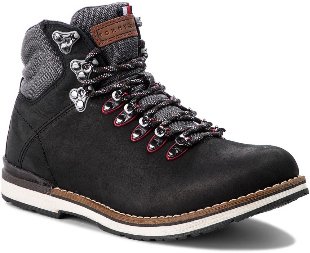 Outdoorová obuv TOMMY HILFIGER - Outdoor Hiking Detail Boot FM0FM01755 Black  990 d9fce621ba9