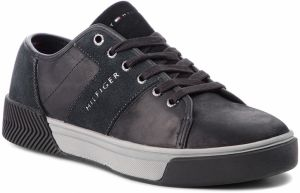 Sneakersy TOMMY HILFIGER - Leather Mix Long Lac FM0FM01678 Black 990