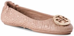 Baleríny TORY BURCH - Quilted Minnie 50736 Goan Sand/Gold 250
