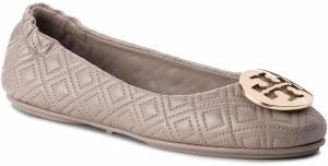 Baleríny TORY BURCH - Quilted Minnie 50736 Dust Storm/Gold 976