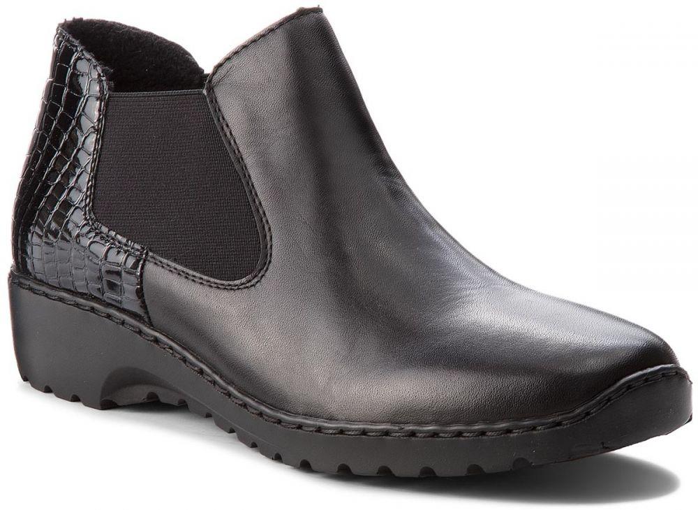 Kotníková obuv s elastickým prvkom RIEKER - L6090-02 Black značky ... 1c3e27b62c0