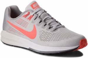 Topánky NIKE - Air Zoom Structure 21 904695 006 Vast Grey/Bright Crimson