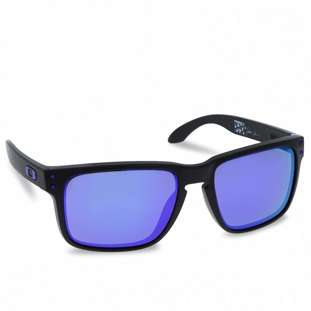 Slnečné okuliare OAKLEY - Holbrook OO9102-26 Matte Black Violet Iridium 6bbec2a33c1