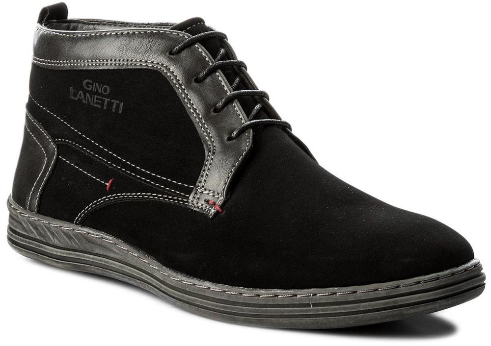 830cac7fc4 Outdoorová obuv GINO LANETTI - MYL8020A-1 Čierna značky Gino Lanetti ...