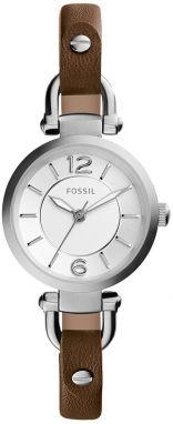 Hnedé dámske hodinky s koženým remienkom Fossil Georgia značky ... 3880b92b6ef