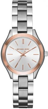 Hodinky MICHAEL KORS - Mini Slim Runway MK3514 Silver/Steel/Rose Gold