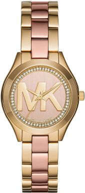 Hodinky MICHAEL KORS - Mini Slim Runway MK3650 Gold/Rose Gold/Gold