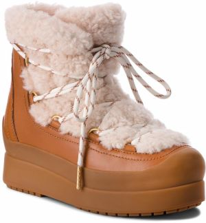 Topánky TORY BURCH - Courtney 60Mm Shearling Boot 50059 Natural/Tan 276
