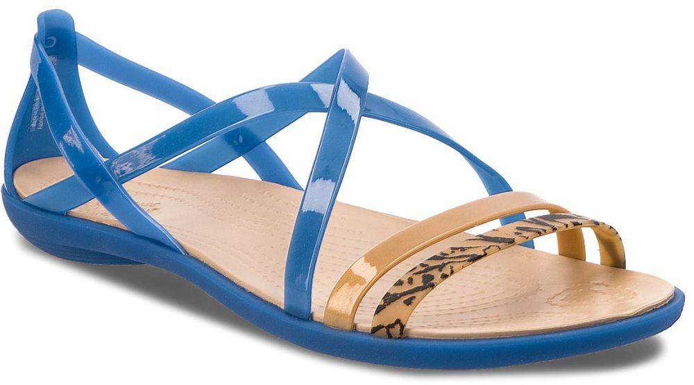 fba7d0b7ea88 Sandále CROCS - Isabella Grph Strappy 205084 Blue Jean Gold značky Crocs -  Lovely.sk