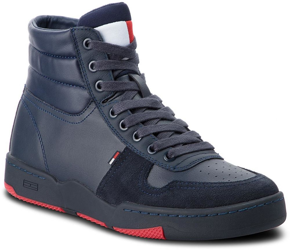 Sneakersy TOMMY JEANS - Mid Basket Sneaker EM0EM00177 Ink 006 značky Tommy  Jeans - Lovely.sk df8233d8519