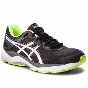 Topánky ASICS - Gel-Fortitude 7 (2e) T5G3N Black/White/Safety Yellow 9001