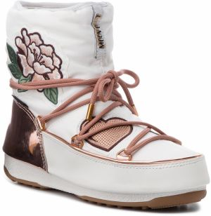 Snehule MOON BOOT - Peace & Love Wp 24007500001 Copper/White