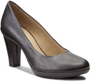 e50f4711d3 Čierno-biele dámske kožené topánky na podpätku Geox Audie značky ...
