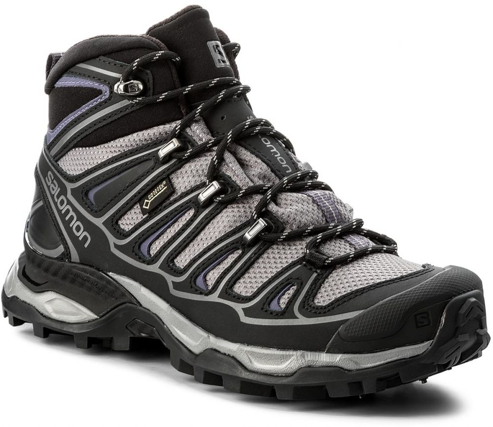 Trekingová obuv SALOMON - X Ultra Mid 2 Spikes Gtx GORE-TEX 377821 20 V0  Detroit Black Artist Grey X značky Salomon - Lovely.sk 1cc0f54e1d