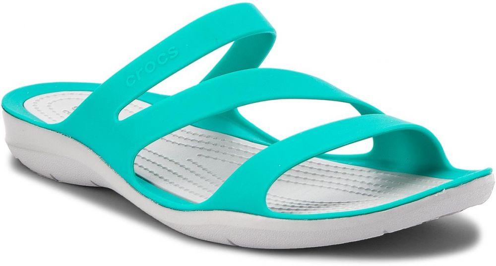 f70c96b245 Šľapky CROCS - Swiftwater Sandal W 203998 Tropical Teal Light Grey značky  Crocs - Lovely.sk