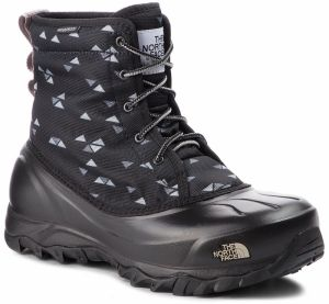Snehule THE NORTH FACE - Tsumoru Boot T93MKT5UB Tnf Black Triangle Weave Print/Foil Grey
