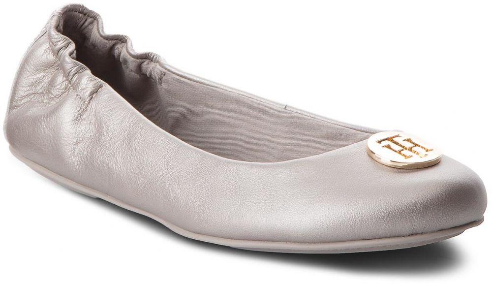 1fc81664d90 Baleríny TOMMY HILFIGER - Pearlized Leather Ballerina FW0FW03412 Moonbeam  009 značky Tommy Hilfiger - Lovely.sk