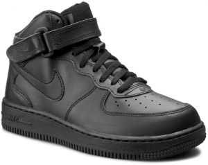 Topánky NIKE - Force 1 Mid (PS) 314196 004 Black/Black