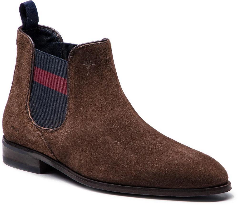 3b1b00298df Kotníková obuv s elastickým prvkom JOOP! - Kleitos 4140004163 Dark Brown 702
