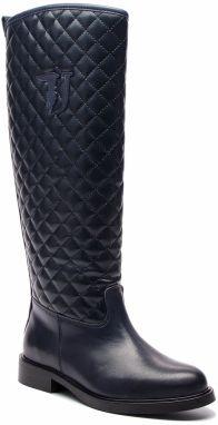 4701436533 Dámske čižmy so širokou sárou Trussardi Jeans - Lovely.sk