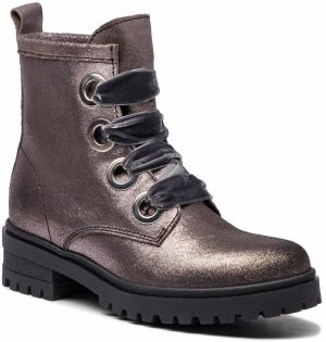 Outdoorová obuv TOMMY JEANS - Metallic Cleated Lac EN0EN00339 Steel Grey 039