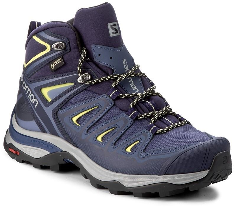 Trekingová obuv SALOMON - X Ultra 3 Mid Gtx W GORE-TEX 398691 22 V0 Crown  Blue Evening Blue Sunny Lime značky Salomon - Lovely.sk 96ee7ef0b77