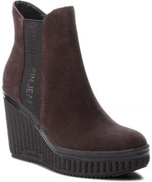 Členková obuv CALVIN KLEIN JEANS - Shanna RE9765 Dark Brown 1cc7c2613c9