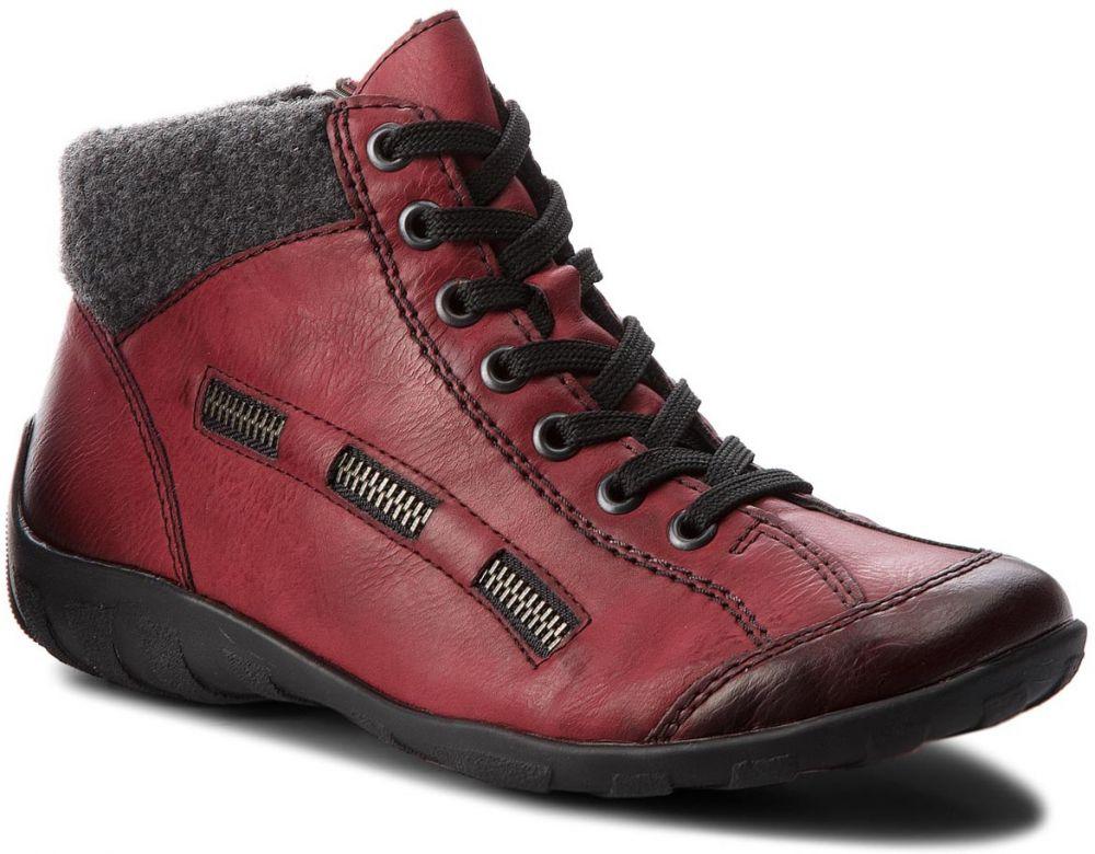 6f7bd9c1a5 Členková obuv RIEKER - L6543-35 Rot Kombi značky RIEKER - Lovely.sk