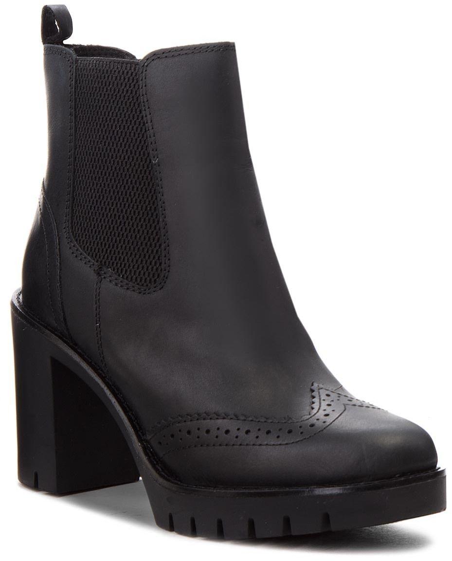 24bc9d7794 Členková obuv TOMMY HILFIGER - Casual Heeled Chelse FW0FW03058 Black 990  značky Tommy Hilfiger - Lovely.sk