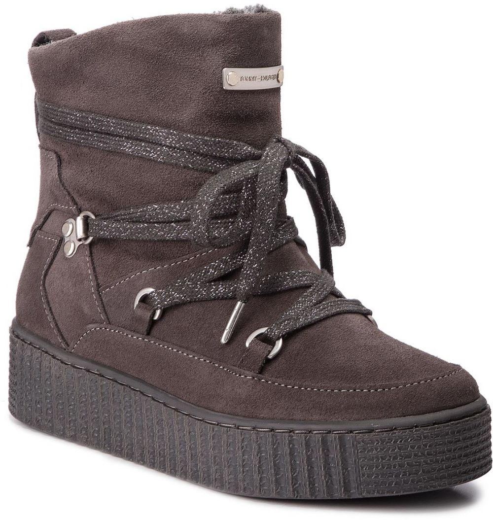 Členková obuv TOMMY HILFIGER - Cozy Warmlined Suede FW0FW03437 Steel Grey  039 značky Tommy Hilfiger - Lovely.sk e7e54794ead