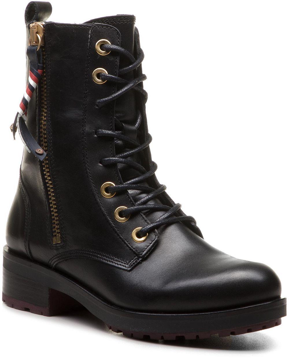 Členková obuv TOMMY HILFIGER - Corporate Tassel Bik FW0FW03585 Black 990  značky Tommy Hilfiger - Lovely.sk 1bb35db8309