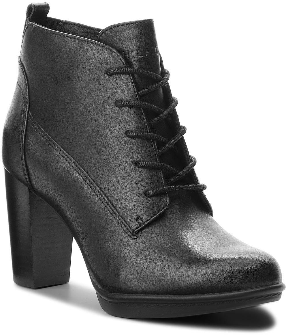 2afb2fe677 Členková obuv TOMMY HILFIGER - Basic Lace Up Heel B FW0FW03607 Black 990  značky Tommy Hilfiger - Lovely.sk