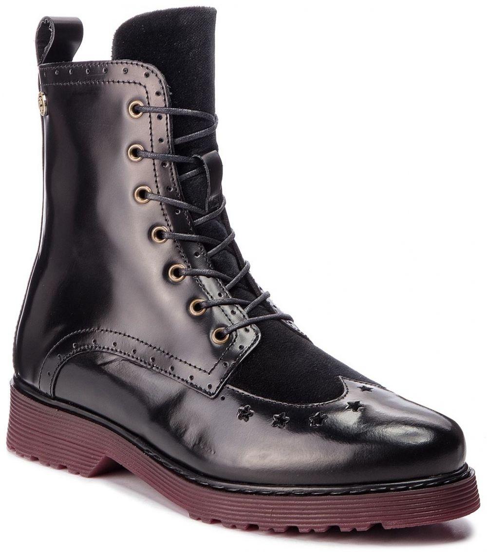 985d38d1cd Členková obuv TOMMY HILFIGER - Modern Leather Lace FW0FW03587 Black 990  značky Tommy Hilfiger - Lovely.sk