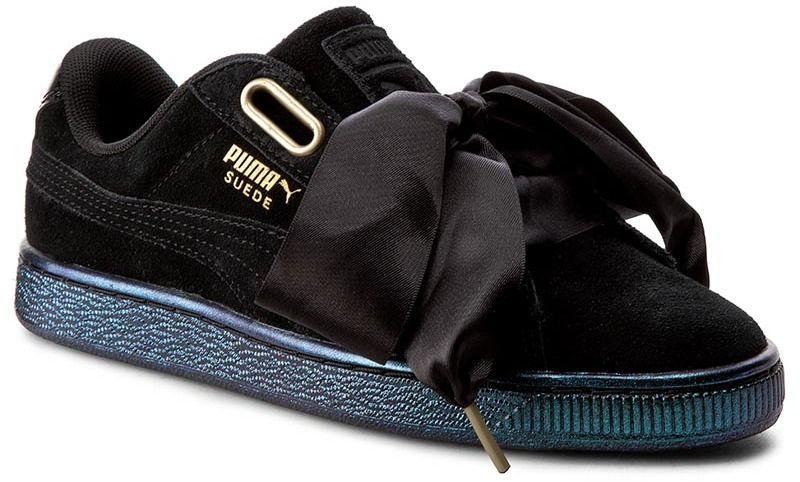 Sneakersy PUMA - Suede Heart Satin Wn s 362714 03 Puma Black Puma Black 1c14e8c26da