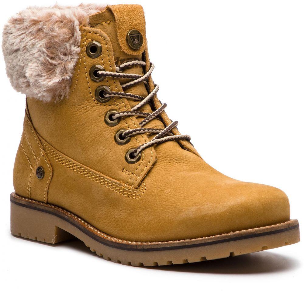 f6f7a8a401f Outdoorová obuv WRANGLER - Creek Alaska WL182502 Tan Yellow 24 ...