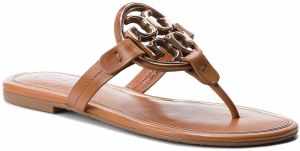 Žabky TORY BURCH - Metal Miller 47617 Tan/Rose Gold 112