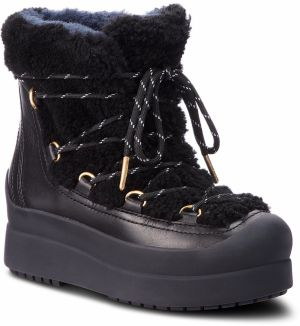 Topánky TORY BURCH - Courtney 60Mm Shearling Boot 50059 Perfect Black/Perfect Black 004