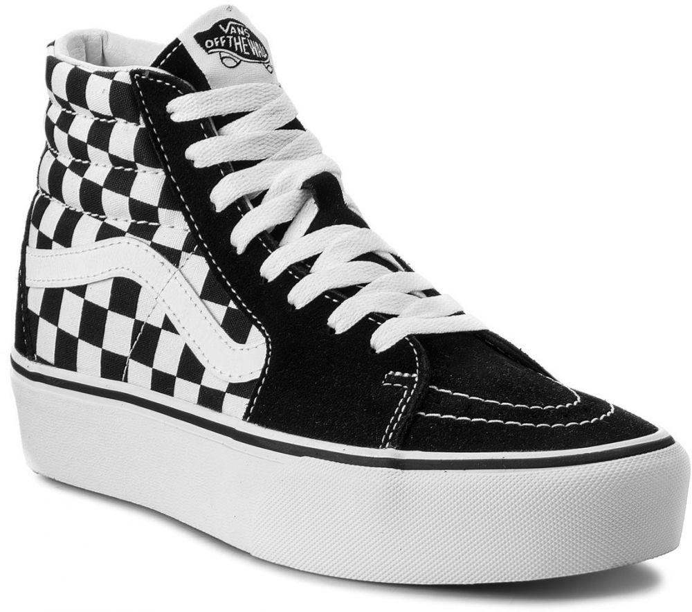 Sneakersy VANS - Sk8-Hi Platform 2 VN0A3TKNQXH Checkboard True White značky  Vans - Lovely.sk c53c8bf0a0b