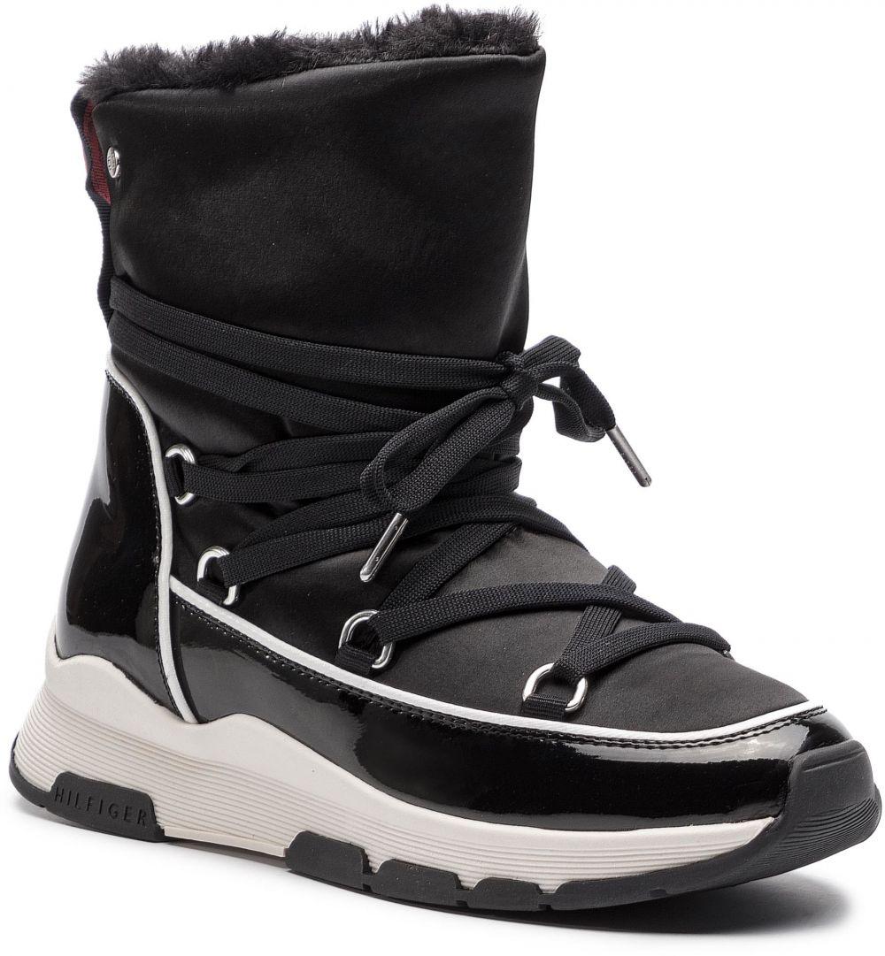 Topánky TOMMY HILFIGER - Cool Technical Satin Winter Boot FW0FW03697 Black  990 značky Tommy Hilfiger - Lovely.sk 41c32d50013
