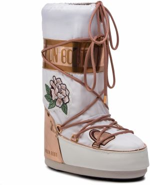 Snehule MOON BOOT - Peace & Love 14023800001 Cooper/White
