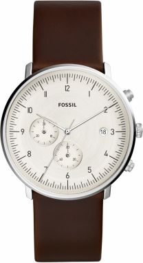 Hodinky FOSSIL - Chase Timer FS5488 Brown/Silver