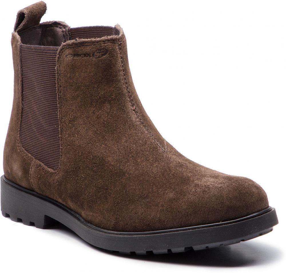 Kotníková obuv s elastickým prvkom GEOX - U Rhadalf D U845HD 00023 C6024 Dk  Coffee značky Geox - Lovely.sk fb2c37377e