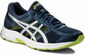 Topánky ASICS - Gel-Contend 4 T715N Dark Blue/Silver/Safety Yellow 4993