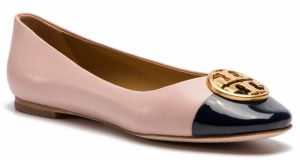 Baleríny TORY BURCH - Chelsea Cap-Toe Ballet 46882 Sea Shell Pink/Perfect Navy 964